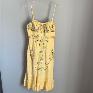 NWT!! Sue Wong Ladies Yellow Floral Pattern Dress